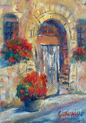 Italy Farmhouse Painting - Tuscan Door by Carolyn Jarvis