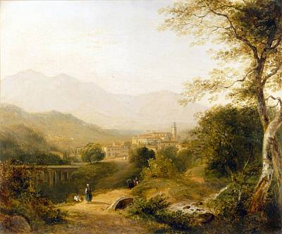 Italian Landscapes Painting - Italian Landscape by Joseph William Allen
