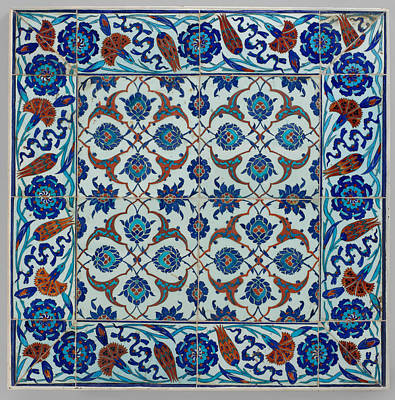 Tile Painting - Iznik Tile by Celestial Images