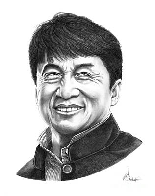 Famous People Drawing - Jackie Chan by Murphy Elliott