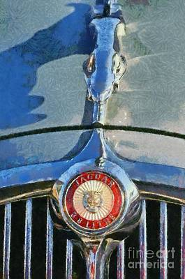 Ornament Painting - 1966 Jaguar 3.8 S Type by George Atsametakis