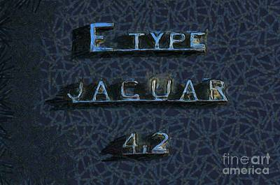 Jaguar E Type 4.2 Logo Print by George Atsametakis