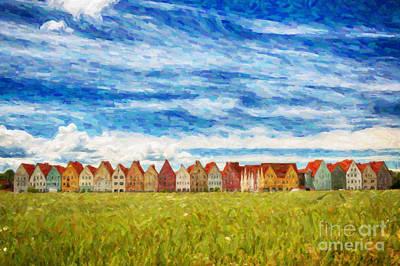 Sweden Digital Art - Jakriborg Digital Painting by Antony McAulay