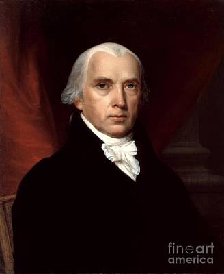 Madison Painting - James Madison by John Vanderlyn