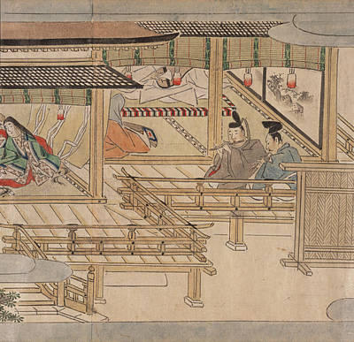 Japanese Musicians Print by British Library