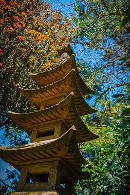 Japanese Shrine In The Garden Print by Sarit Sotangkur