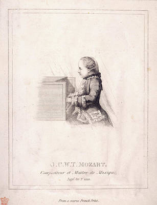 J.c.w.t. Mozart Print by British Library