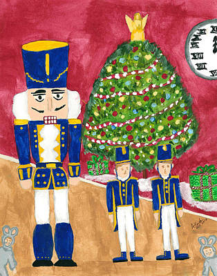 Toy Soldiers Painting - Jennys Nutcracker by Atlanta Carrera