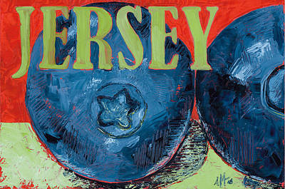 Jersey Blues Print by Jennie Traill Schaeffer