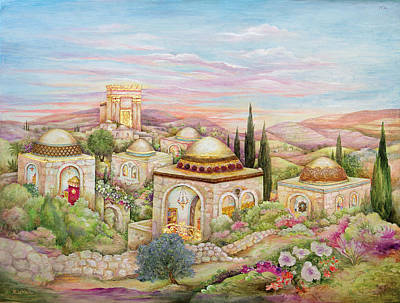 Synagogue Painting - Jerusalem Landscape by Michoel Muchnik