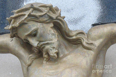 Winter Scenes Photograph - Jesus - Christian Art - Religious Statue Of Jesus by Kathy Fornal