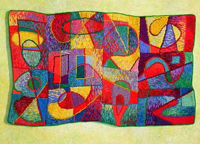 Tapestry - Textile - Jigsaw Tapestry by Diane Fine
