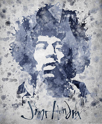 Brother Mixed Media - Jimi Hendrix Portrait by Aged Pixel