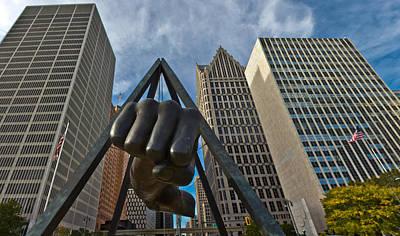 Joe Louis Fist In Detroit  Print by John McGraw