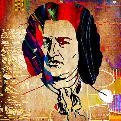Poster Mixed Media - Johann Sebastian Bach Collection by Marvin Blaine