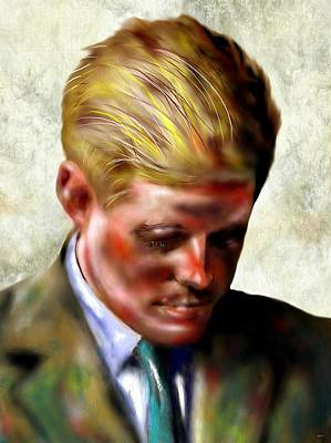 Statesmen Mixed Media - John F. Kennedy by Daniel Janda