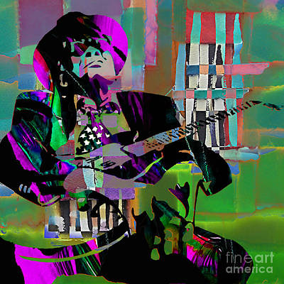 John Lee Hooker Collection Print by Marvin Blaine