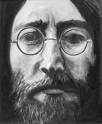 John Lennon Drawing - John Lennon Drawing by Charles  Bickel