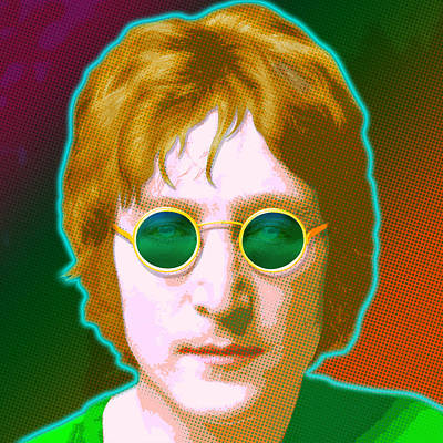 Graphic Digital Art Painting - John Lennon by Gary Grayson
