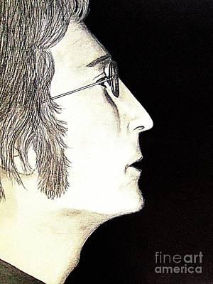 John Lennon Drawing - John Lennon In Profile by Tania Eddingsaas