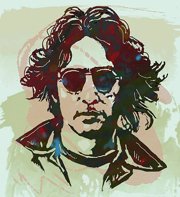 John Lennon Pop Art Sketch Poster Print by Kim Wang