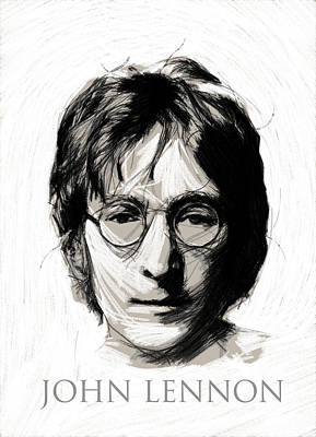 John Lennon Drawing - John Lennon by Stefan Kuhn