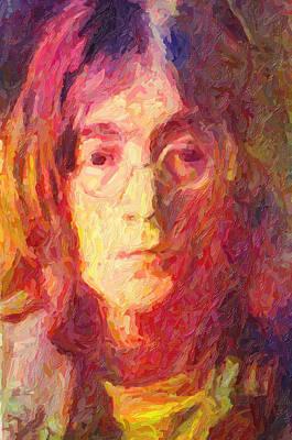 Anti-war Painting - John Lennon by Taylan Soyturk