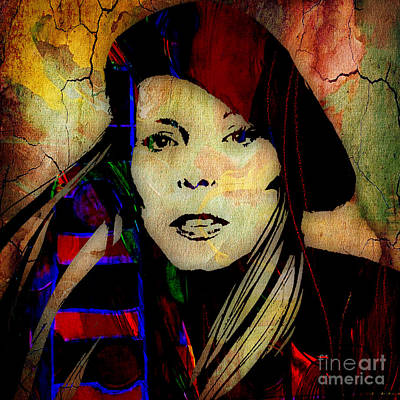 Musical Mixed Media - Joni Mitchell Collection by Marvin Blaine