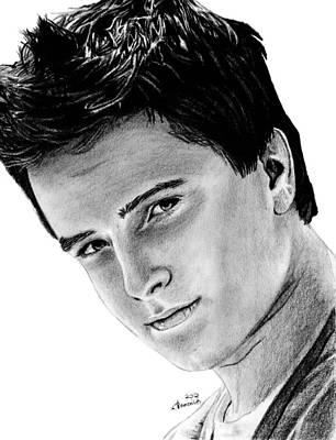 Hunger Drawing - Josh Hutcherson by Kayleigh Semeniuk