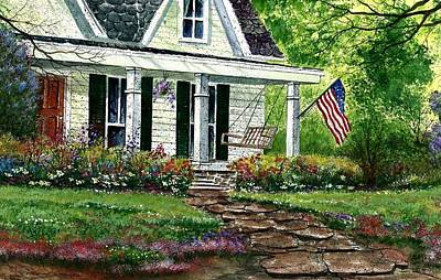 Independence Day Painting - July 4th by Steven Schultz