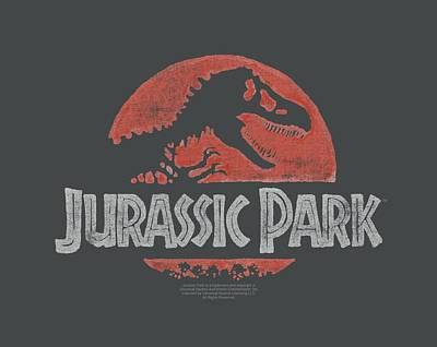 T-rex Digital Art - Jurassic Park - Faded Logo by Brand A
