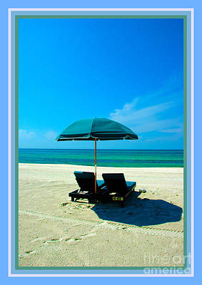 Just You And Me And The Beach Print by Susanne Van Hulst