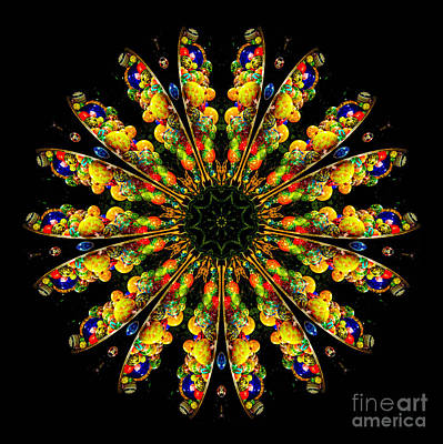 Kaleidoscope Of Blown Glass Print by Amy Cicconi