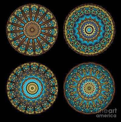 Mandala Photograph - Kaleidoscope Steampunk Series Montage by Amy Cicconi