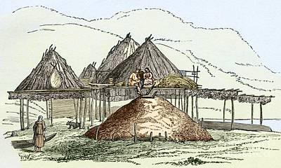 Kamchatka Settlement, Artwork Print by Sheila Terry