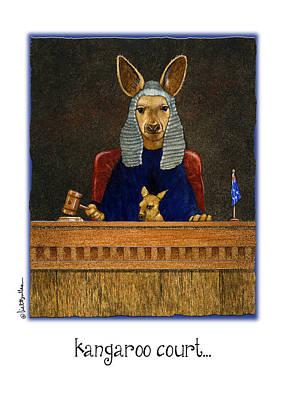 Kangaroo Painting - Kangaroo Court... by Will Bullas