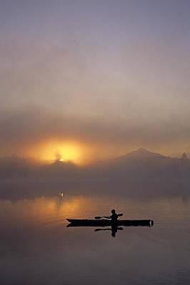 Balance In Life Photograph - Kayaker by Jim Corwin