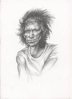 Keith Richards Drawing - Keith Richards by Esther Rosier
