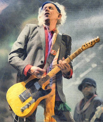 Keith Richards Digital Art - Keith Richards by Martin Deane