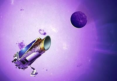 Cosmological Photograph - Kepler Space Telescope by Detlev Van Ravenswaay