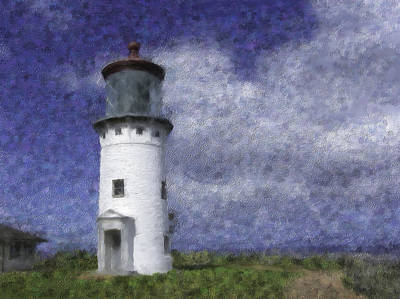 Kilauea Lighthouse Print by Renee Skiba