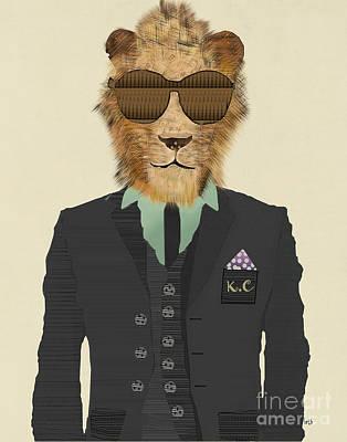 Cool Lion Digital Art - King Cool by Bri B