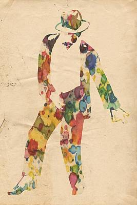Michael Jackson Painting - King Of Pop In Concert No 6 by Florian Rodarte