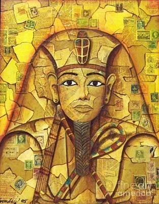 Pyramid Mixed Media - King Tut by Joseph Sonday