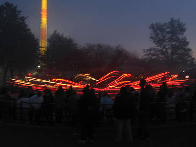 Kings Dominion - 12122 Print by DC Photographer