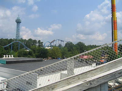Kings Dominion - Shockwave - 12121 Print by DC Photographer