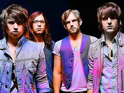 Kings Of Leon Print by Marvin Blaine