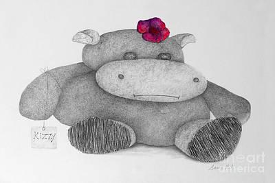 Hippopotamus Mixed Media - Kizzy Hippo by Joanne Clark