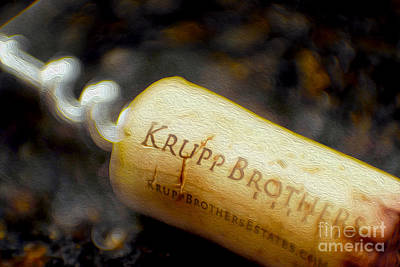 Cabernet Mixed Media - Krupp Cork by Jon Neidert