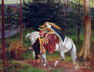 Filly Painting - La Belle Dame Sans Merci by Walter Crane